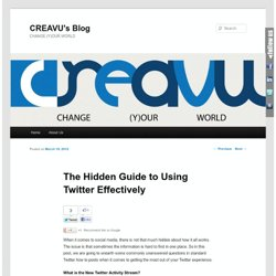 The Hidden Guide to Using Twitter Effectively | CREAVU's Blog