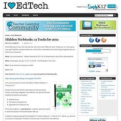 Hidden Webtools: 11 Tools for 2011