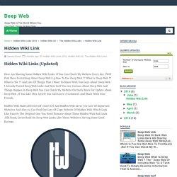 Hidden Wiki Link - Deep Web