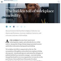 The hidden toll of workplace incivility