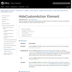 HideCustomAction Element