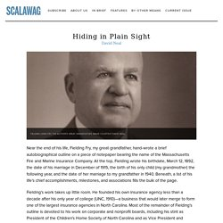 Hiding in Plain Sight — Scalawag