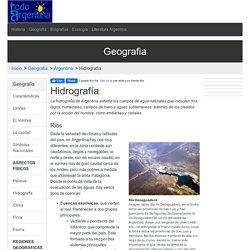 Hidrografía en Argentina