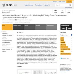 PLOS 07/05/13 A Hierarchical Network Approach for Modeling Rift Valley Fever Epidemics with Applications in North America