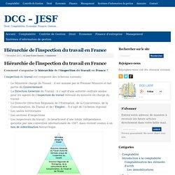 Hiérarchie de l'inspection du travail en France