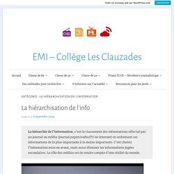 La hiérarchisation de l'information – EMI – Collège Les Clauzades