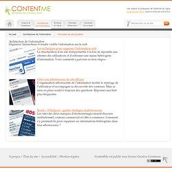 Comment organiser et hiérarchiser l'information sur le web