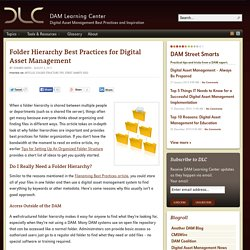 Folder Hierarchy Best Practices for Digital Asset Management