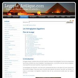 Hiéroglyphes en Egypte Antique