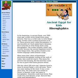 Hieroglyphics, Rosetta Stone - Ancient Egypt for Kids