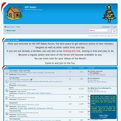 HiFi Kabin - Index page