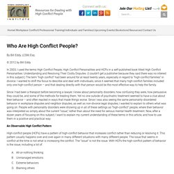 Who Are High Conflict People? - High Conflict Institute
