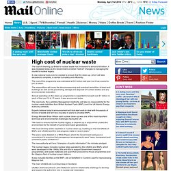 High cost of nuclear waste