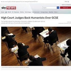 High Court Judges Back Humanists Over GCSE