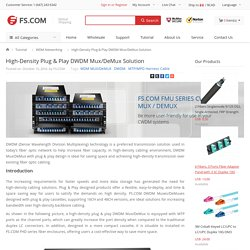 High-Density Plug & Play DWDM Mux/DeMux Solution
