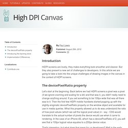 High DPI Canvas
