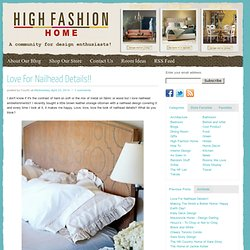 High Fashion Home Blog