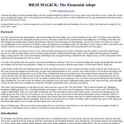 HIGH MAGICK: The Elemental Adept