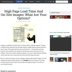 High Page Load Time And On-Site Images: What Are Your Options?
