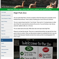 High Park Toronto Zoo