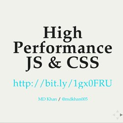 High Perf JS CSS