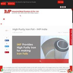 High Purity Iron Foil - IMP India