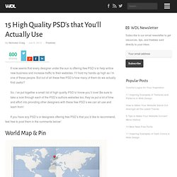 15 High Quality PSD's that You'll Actually Use