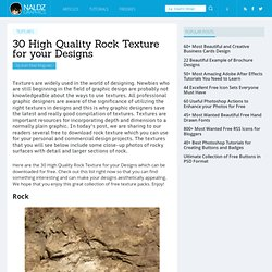 30 High Quality Rock Texture for your Designs