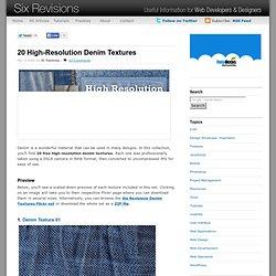 20 High-Resolution Denim Textures
