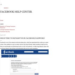 High Time to revamp your Facebook password