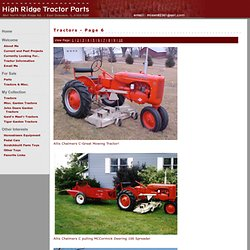 High Ridge Tractor Parts