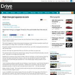 High rises put squeeze on cars