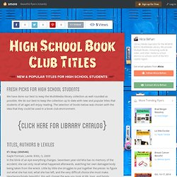 High School Book Club Titles