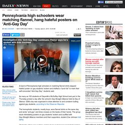Pa. high schoolers dress up for 'Anti-Gay Day'