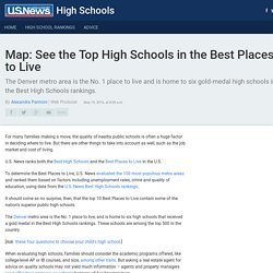 Map: See the Top High Schools in the Best Places to Live