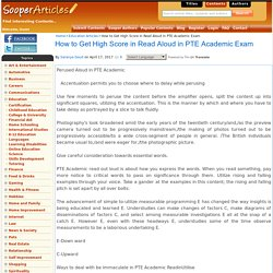 How to Get High Score in Read Aloud in PTE Academic Exam