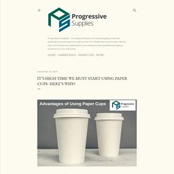 It's High Time We Must Start Using Paper Cups- Here's Why?