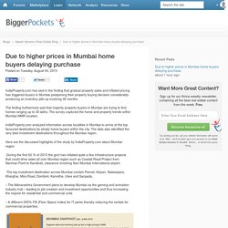 Due to higher prices in Mumbai home buyers delaying purchase