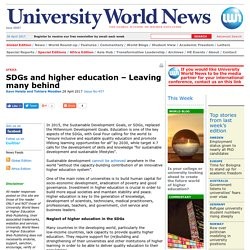 SDGs and higher education – Leaving many behind