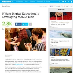 5 Ways Higher Education Is Leveraging Mobile Tech