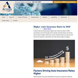 Higher Auto Insurance Rates in 2020 - Altizer Law