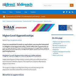 Higher Level Apprenticeships