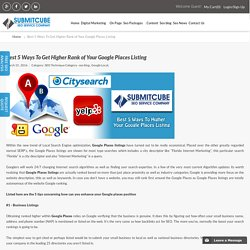 How to Higher Rank of Google Places Listing - Submitcube