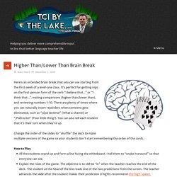 Higher Than/Lower Than Brain Break - TCI By The Lake