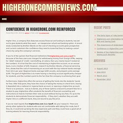 Confidence in HigherOne.com Reinforced