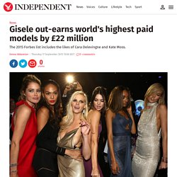 Gisele out-earns world's highest paid models by £22 million