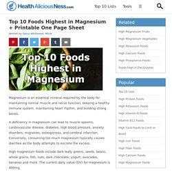Top 10 Foods Highest in Magnesium