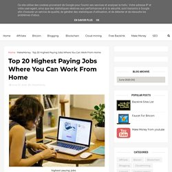 Top 20 Highest Paying Jobs Where You Can Work From Home - Earn money Make money online Online Income Digital , Support , Bengal