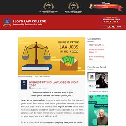 Highest paying Law jobs in India 2020