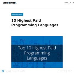 10 Highest Paid Programming Languages